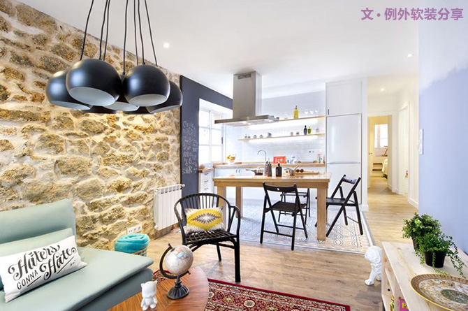 软装设计 室内设计 别墅设计 例外软装图片来自例外软装设计在简单温馨的单身公寓设计的分享