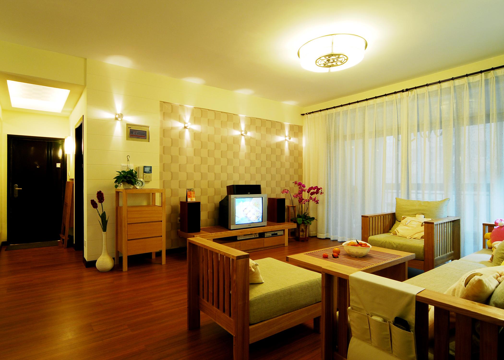 简约 田园 混搭 客厅图片来自上海实创-装修设计效果图在上海130平米混搭风格的分享
