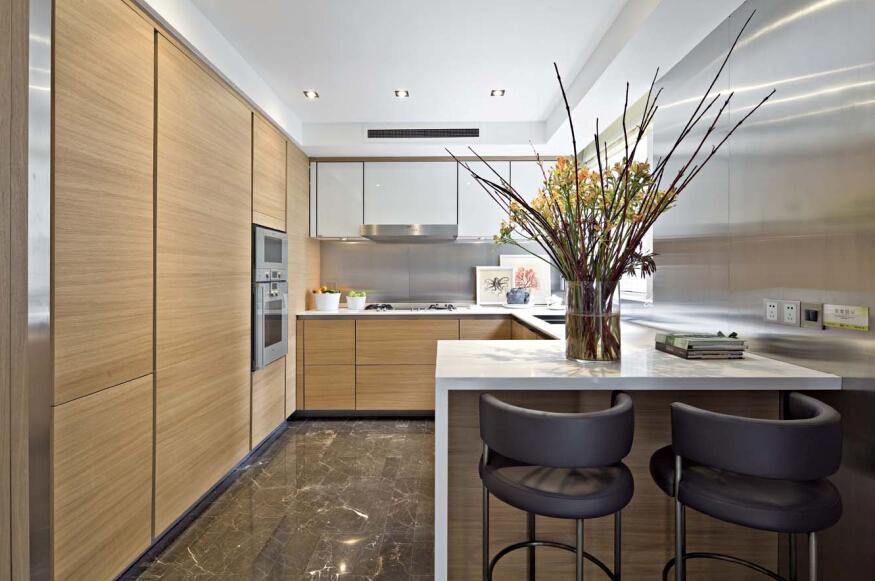 厨房图片来自紫禁尚品设计师李擎在御汤山清新新中式风格的分享