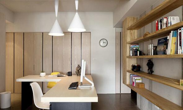 现代简约 简装 两居 现代 书房图片来自北京精诚兴业装饰公司在夫妻简装修,打造小家很精致!的分享