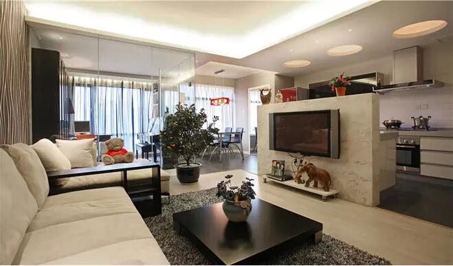简约 储物空间 二居 旧房改造 客厅图片来自业之峰装饰旗舰店在最大化储物空间现代简约不简单的分享