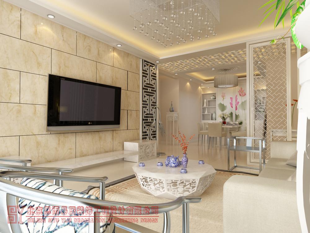 北京别墅 北京二手房 北京旧房 逅屋设计 扬州逅屋 客厅图片来自思雨易居设计在《闲逸》扬州200平现代中式风的分享