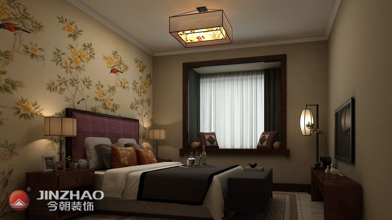 简约 卧室图片来自阿布的小茅屋15034052435在许东佳苑150平米--现代中式的分享