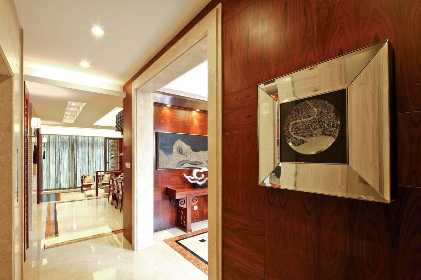 新中式 中式风格 室内设计 装修风格 装修设计 玄关图片来自别墅装修设计yan在新中式风格首创国际半岛的分享