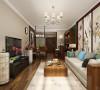 整套方案没有太多的造型,顶面墙面都采用浅色系,家具采用了深木色,结合浅色的墙面色,是一个很好的对比,整体看上去是很舒适的。