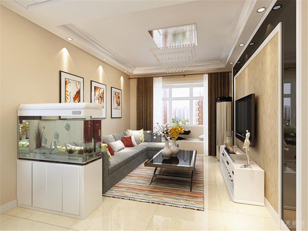 二居 客厅图片来自阳光力天装饰糖宝儿在现代简约   荣雅园 73.5㎡的分享