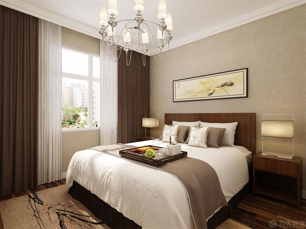 三居 80后 小资 中式 卧室图片来自阳光放扉er在力天装饰-洞庭壹号110㎡的分享
