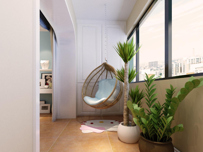 三居 地中海 收纳 阳台图片来自太原金尚装饰王卓娅在地中海风情-三室-100平的分享