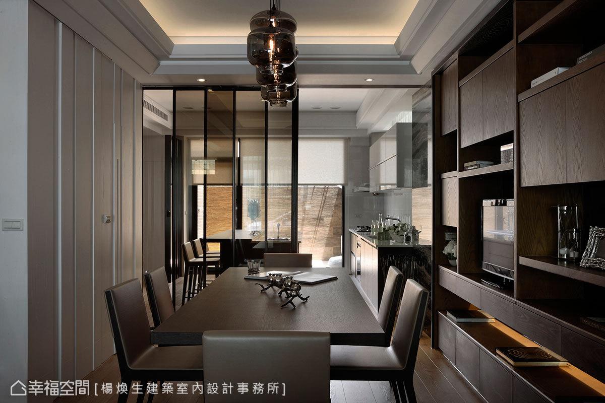 简约 欧式 现代 白领 收纳 混搭 餐厅图片来自幸福空间在90平凝眸其境~浸润光之虚盈的分享