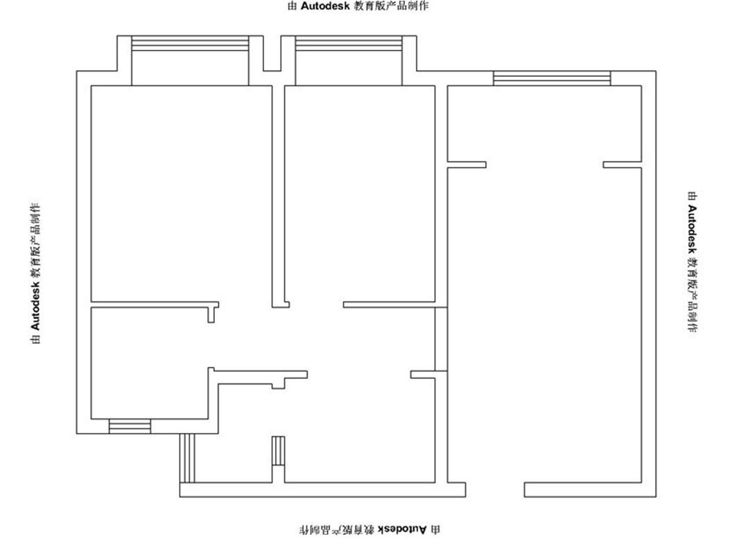 美式 三居 整体家装 户型图图片来自郑州实创装饰啊静在小空间美式三居的分享