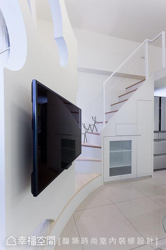 混搭 小户型 简约 收纳 小资 80后 楼梯图片来自幸福空间在33平混搭风 板桥&新巨蛋的分享