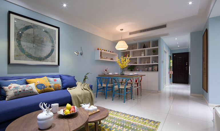 客厅图片来自家装大管家在一切温暖刚刚好 86平简约舒适居的分享