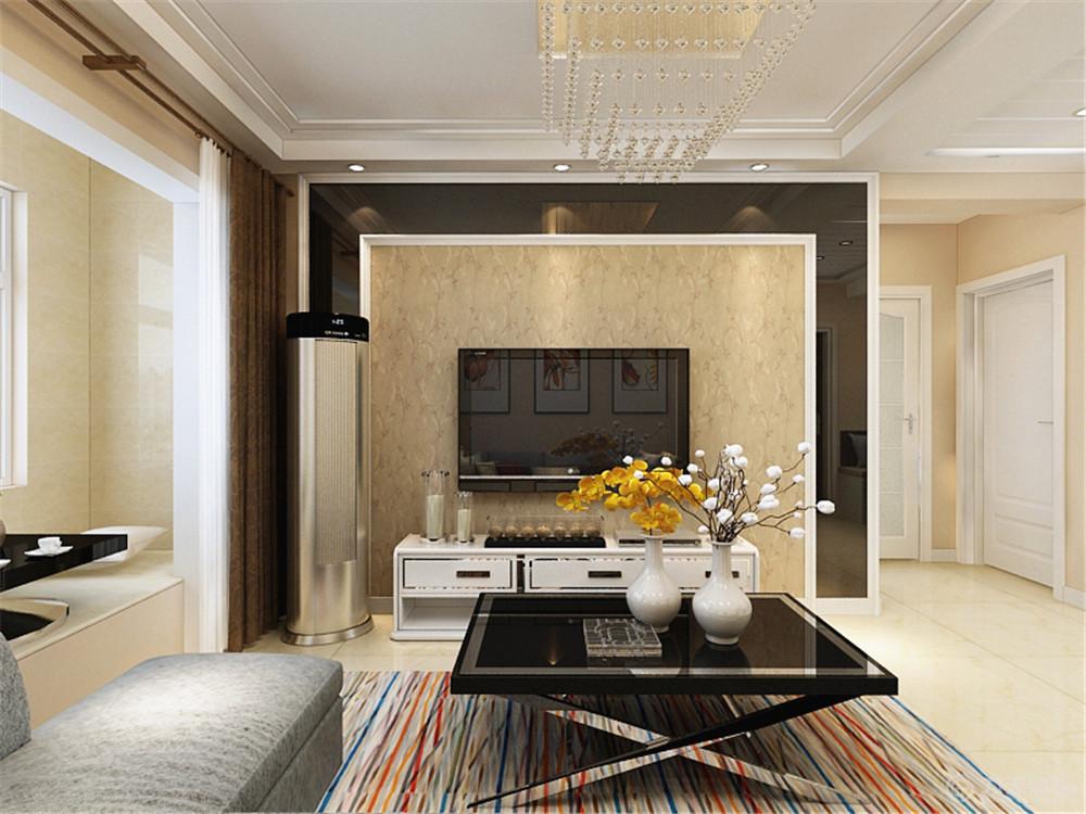 二居 客厅图片来自阳光力天装饰糖宝儿在现代简约 | 荣雅园 73.5㎡的分享