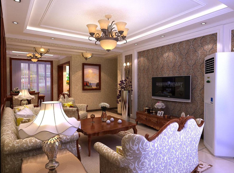 欧式 二居 白领 收纳 格调 客厅图片来自业之峰装饰旗舰店在格调春天的简欧风格案例的分享