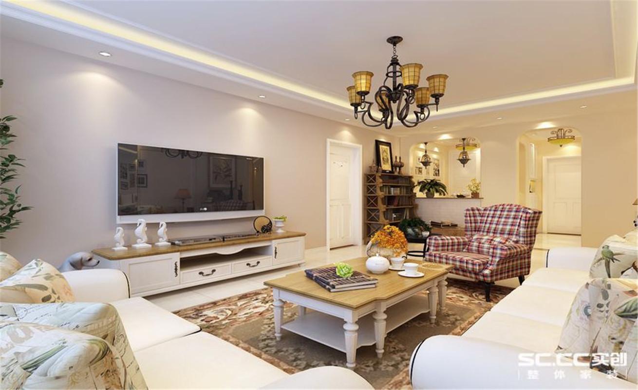 美式 田园 三居 整体家装 客厅图片来自郑州实创装饰啊静在美式田园三居的分享