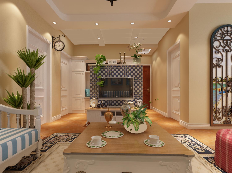 三居 地中海 收纳 客厅图片来自太原金尚装饰王卓娅在地中海风情-三室-100平的分享
