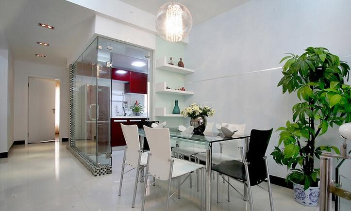 三居 简约 现代 小资 收纳 白领 餐厅图片来自武汉实创装饰在融侨城124平现代简约风的分享