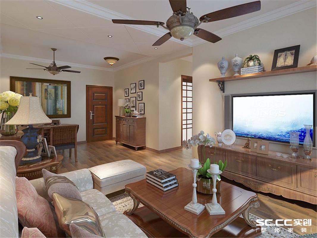 美式 三居 整体家装 客厅图片来自郑州实创装饰啊静在小空间美式三居的分享