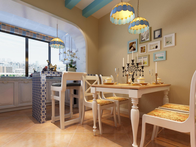 三居 地中海 收纳 餐厅图片来自太原金尚装饰王卓娅在地中海风情-三室-100平的分享