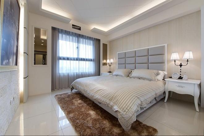 简约 80后 小资 卧室图片来自四川岚庭装饰工程有限公司在140平现代简约风格婚房设计的分享