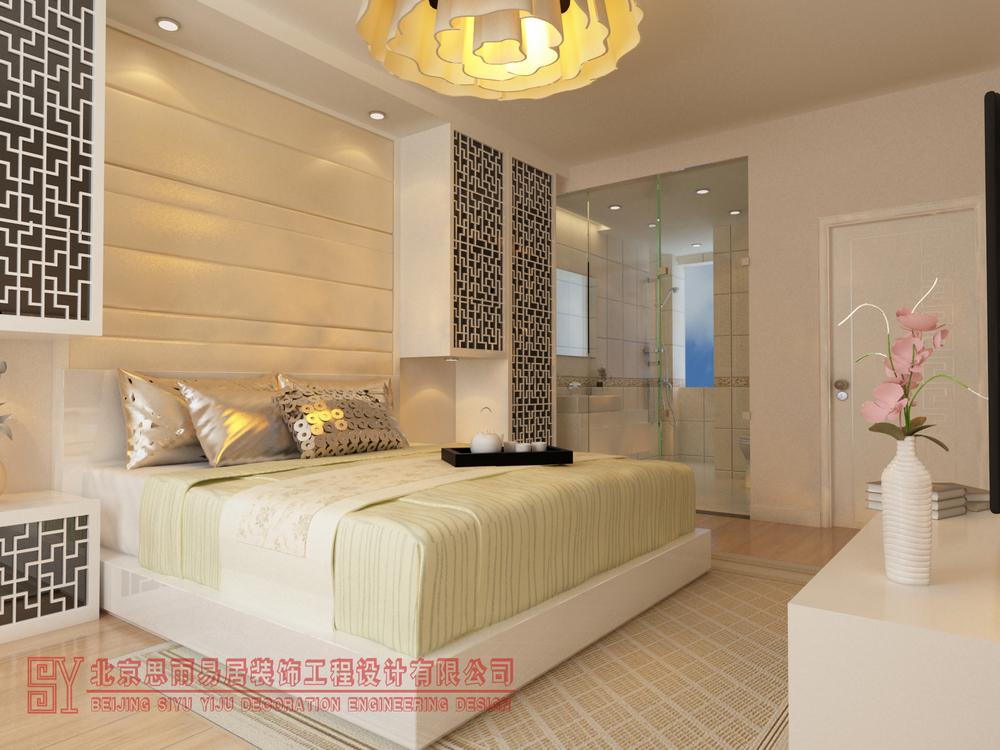 北京别墅 北京二手房 北京旧房 逅屋设计 扬州逅屋 卧室图片来自思雨易居设计在《闲逸》扬州200平现代中式风的分享