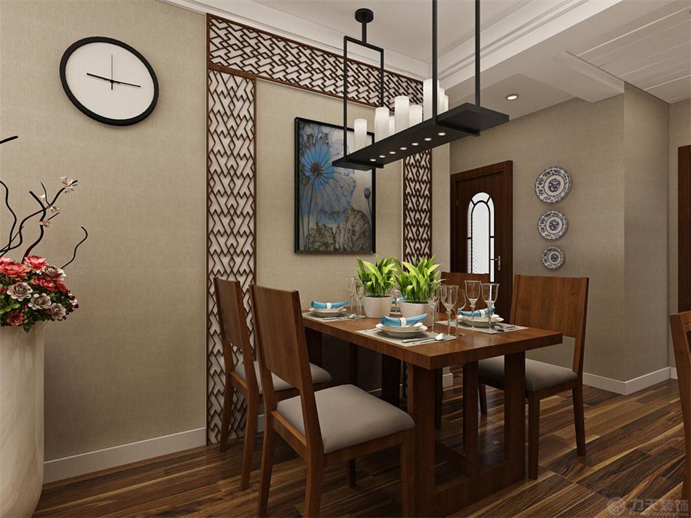 三居 80后 小资 中式 餐厅图片来自阳光放扉er在力天装饰-洞庭壹号110㎡的分享