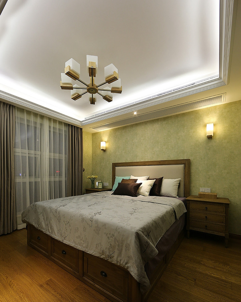 混搭 欧式 简约 复式 小资 卧室图片来自佰辰生活装饰在大户型也有小情调 32w复式温馨家的分享
