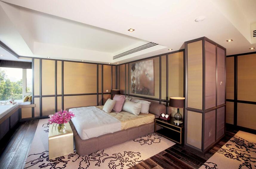 卧室图片来自紫禁尚品设计师李擎在御汤山清新新中式风格的分享