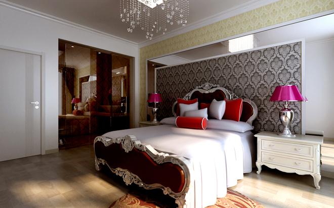 简约 三居 旧房改造 卧室图片来自四川岚庭装饰工程有限公司在122平米老房改造简约时尚家的分享