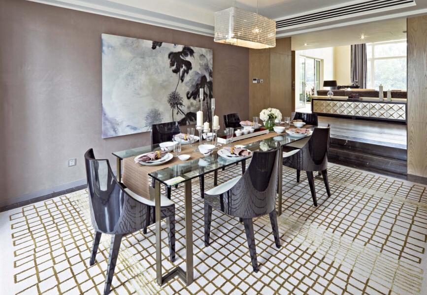 餐厅图片来自紫禁尚品设计师李擎在御汤山清新新中式风格的分享