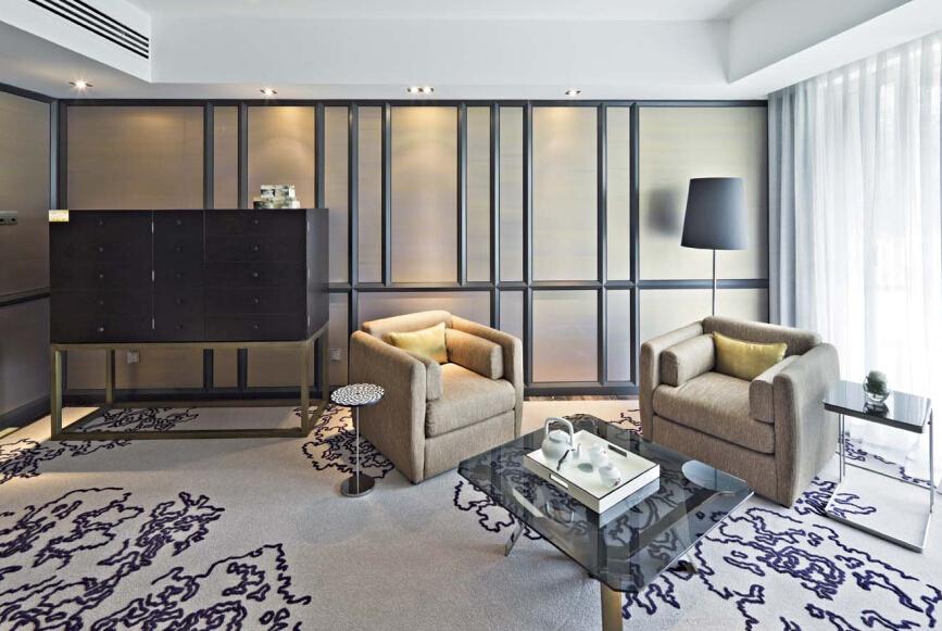 客厅图片来自紫禁尚品设计师李擎在御汤山清新新中式风格的分享