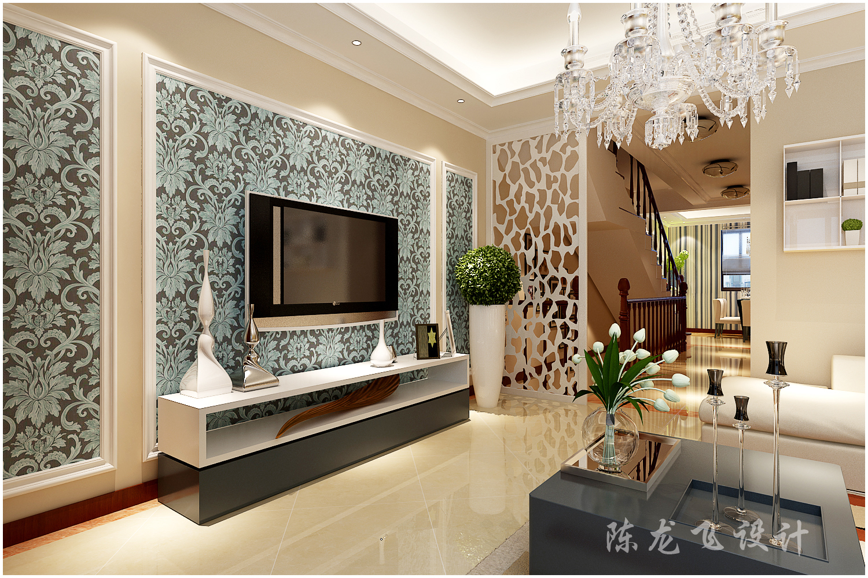 客厅图片来自全屋整装设计在青岛红墅湾下叠现代简约高品质的分享