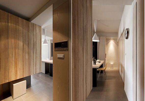 现代简约 简装 两居 现代 玄关图片来自北京精诚兴业装饰公司在夫妻简装修,打造小家很精致!的分享