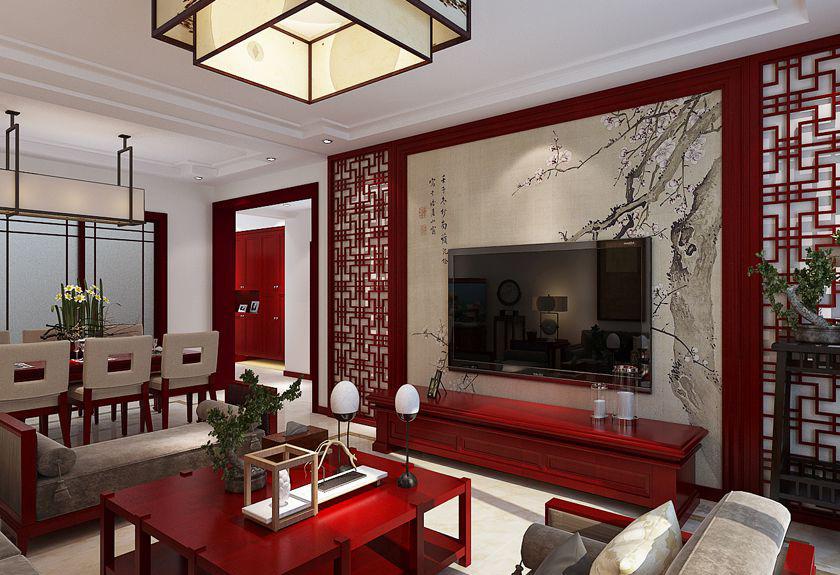 简约 中式 四居 白领 收纳 80后 小资 旧房改造 客厅图片来自实创装饰百灵在庄重优雅的中式底蕴的分享