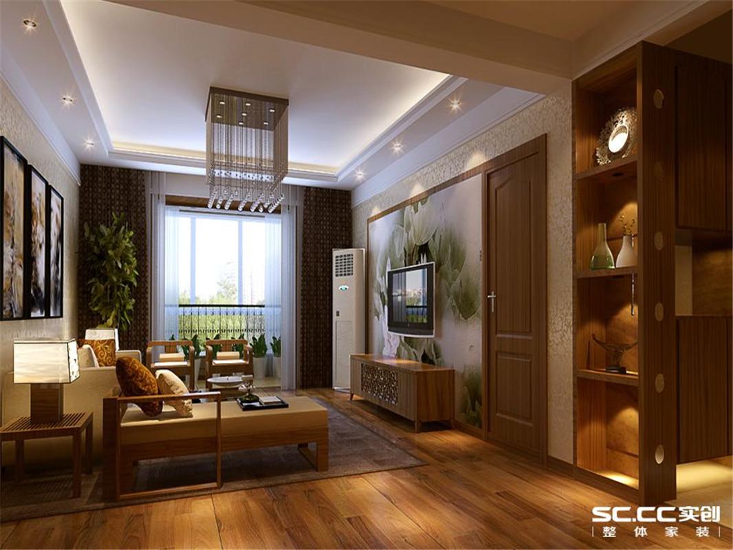 新中式 三居 整体家装 客厅图片来自郑州实创装饰啊静在现代新中式三居的分享