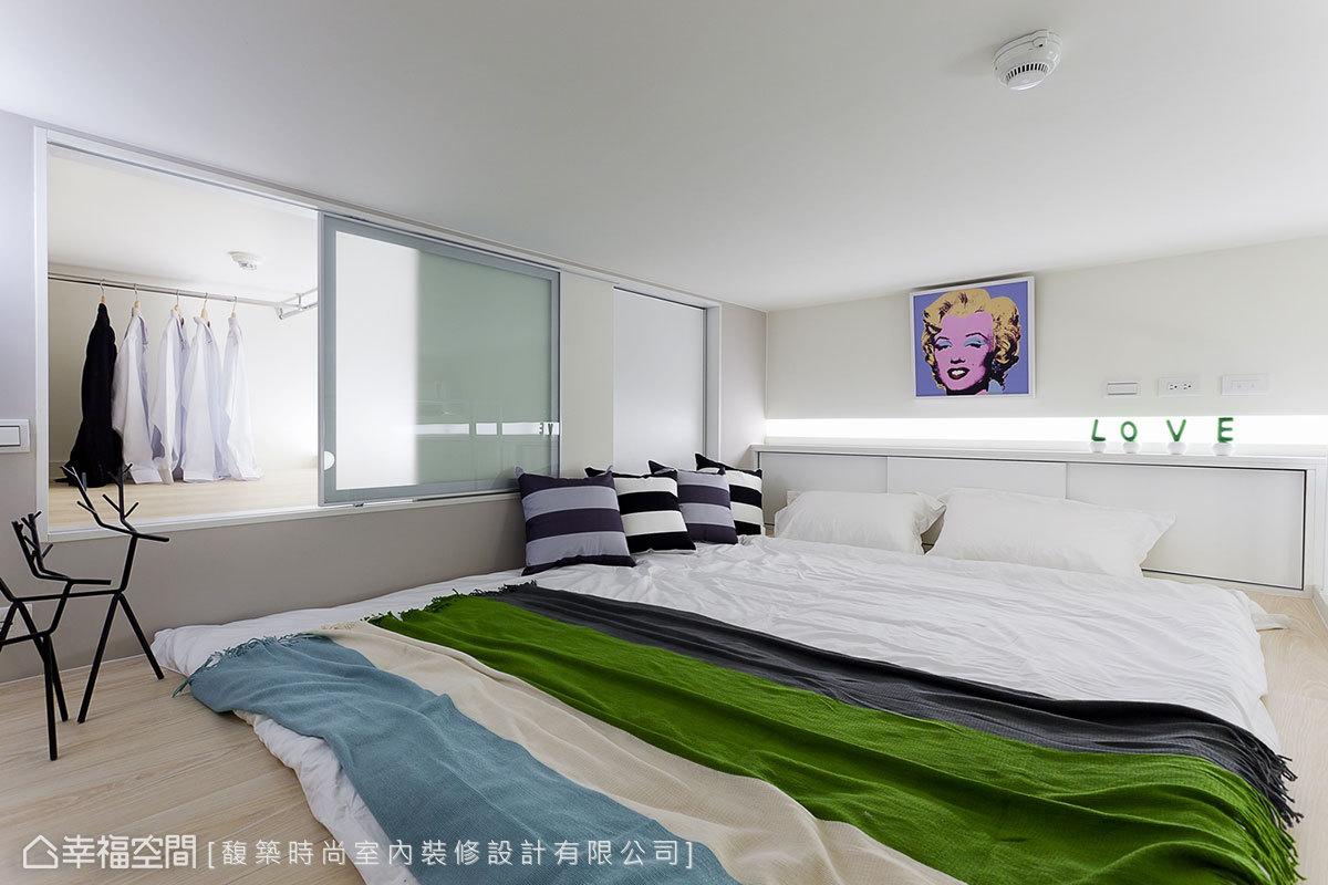 混搭 小户型 简约 收纳 小资 80后 卧室图片来自幸福空间在33平混搭风 板桥&新巨蛋的分享