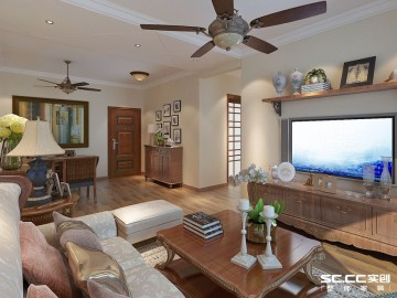 88平两居室美式风格装修设计