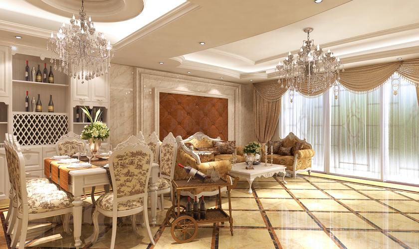 青岛装修 欧式 装饰公司 客厅图片来自青岛威廉装饰在海涛园复式欧式设计的分享