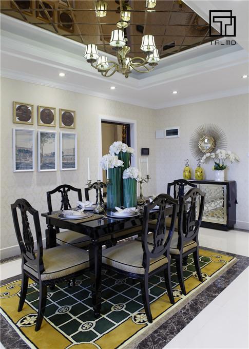 三居 家具定制 新古典 餐厅图片来自TALMD图迈家居在【TALMD案例】新古典·桂林彰泰的分享