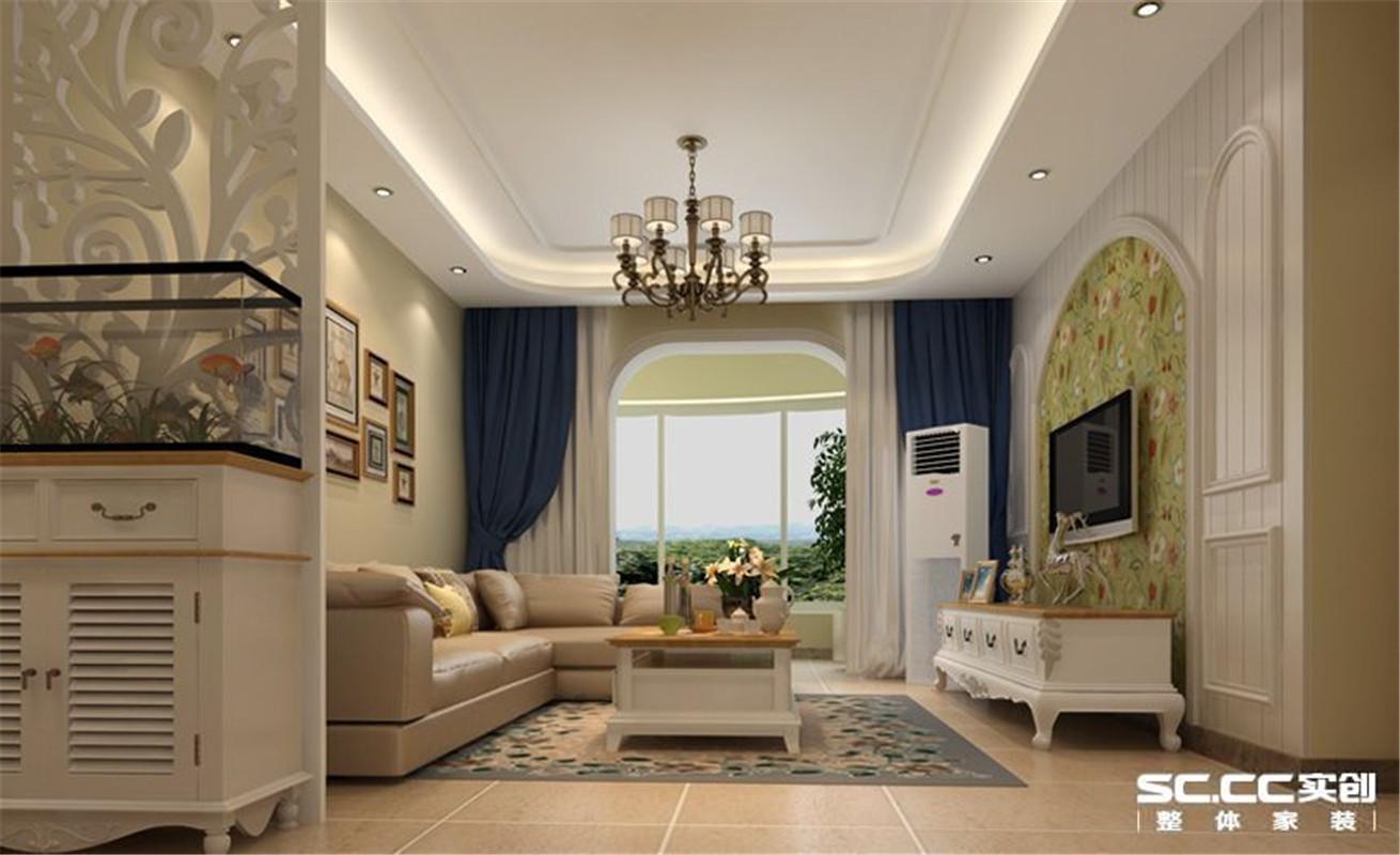 都市家园 美式 三居 整体家装 客厅图片来自郑州实创装饰啊静在华林都市家园美式三居的分享