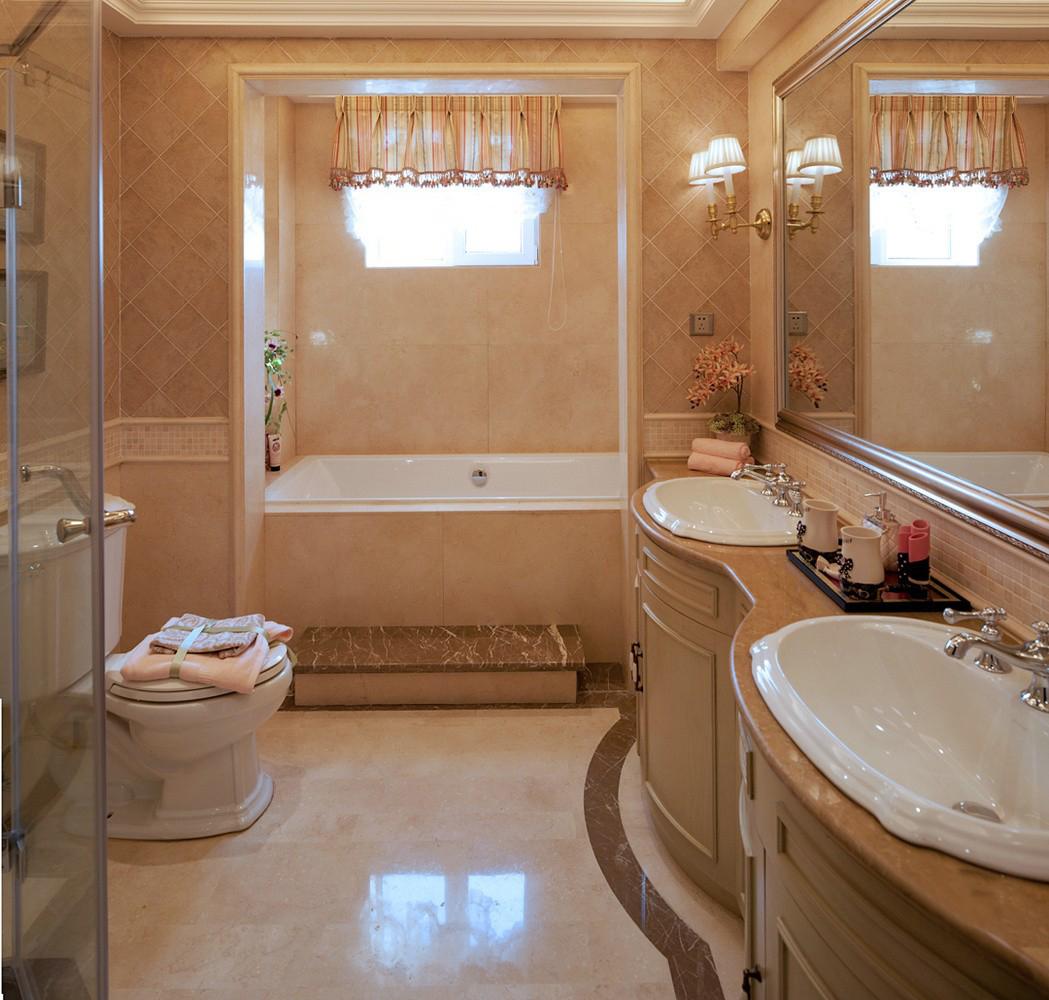 青岛装修 美式 装饰公司 卫生间图片来自青岛威廉装饰在熙园别墅美式设计的分享