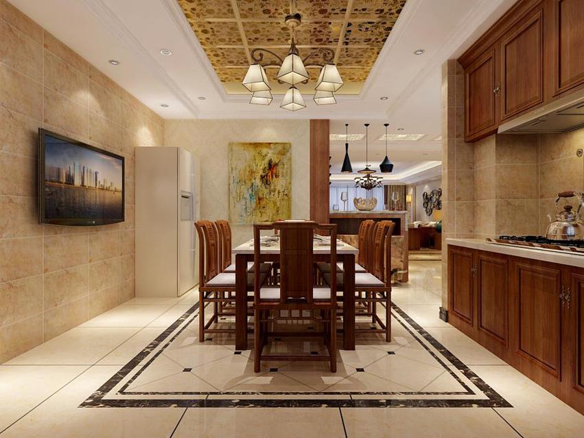 四居 现代 混搭 同祥城 餐厅图片来自乐豪斯装饰张洪博在同祥城210平现代混搭风格的分享