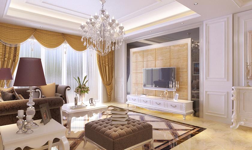 青岛装修 欧式 装饰公司 客厅图片来自青岛威廉装饰在星光华府欧式设计的分享