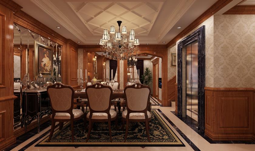 餐厅图片来自青岛威廉装饰在万科红郡别墅美式设计的分享