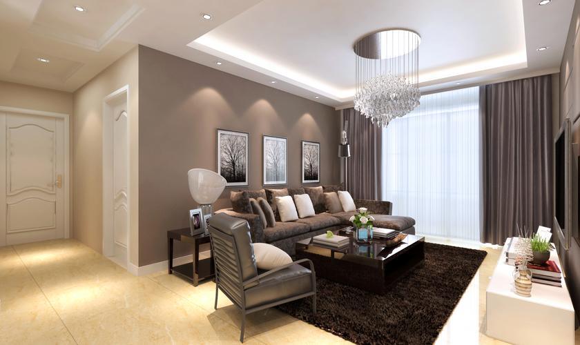 青岛装修 简约 装饰公司 客厅图片来自青岛威廉装饰在中海御城现代简约装修的分享