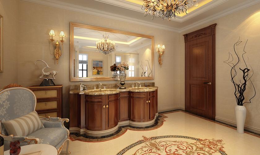 青岛装修 欧式 装饰公司 卫生间图片来自青岛威廉装饰在龙湖别墅欧式设计的分享