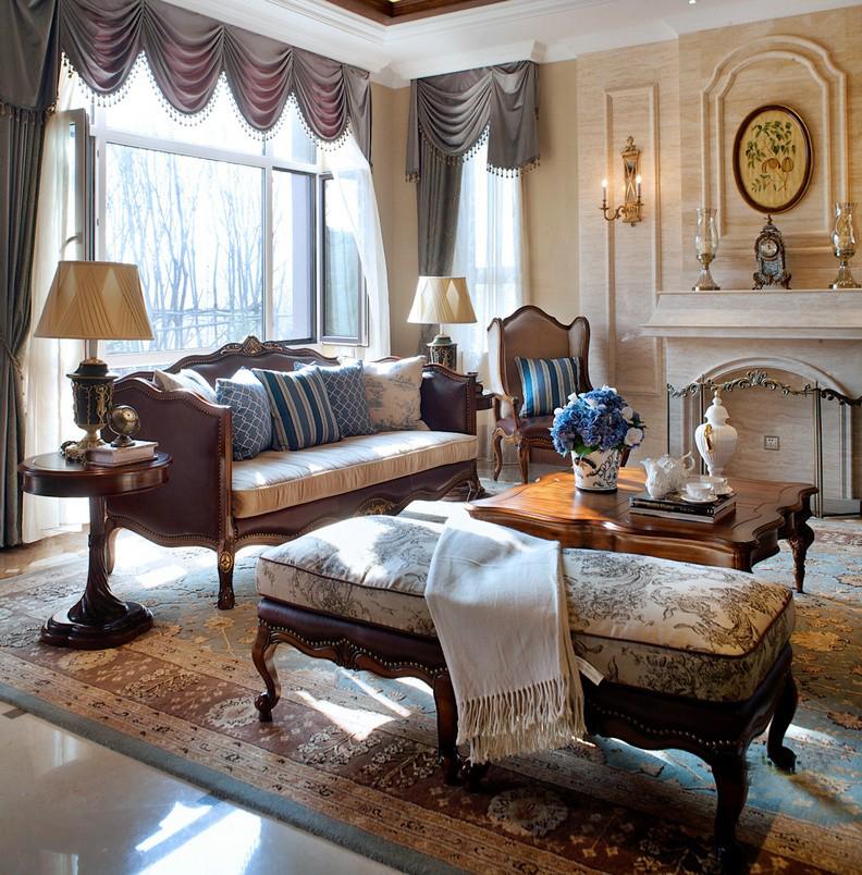 青岛装修 美式 装饰公司 客厅图片来自青岛威廉装饰在熙园别墅美式设计的分享