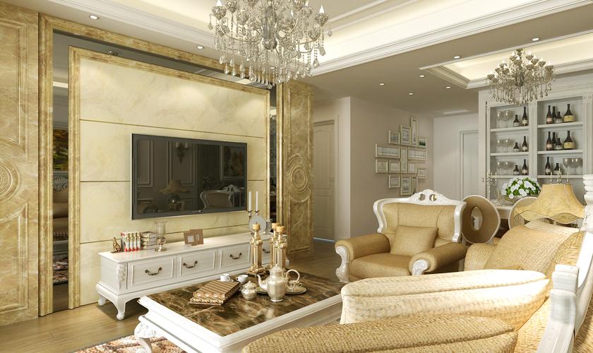 青岛装修 欧式 装饰公司 客厅图片来自青岛威廉装饰在远洋自然欧式设计的分享