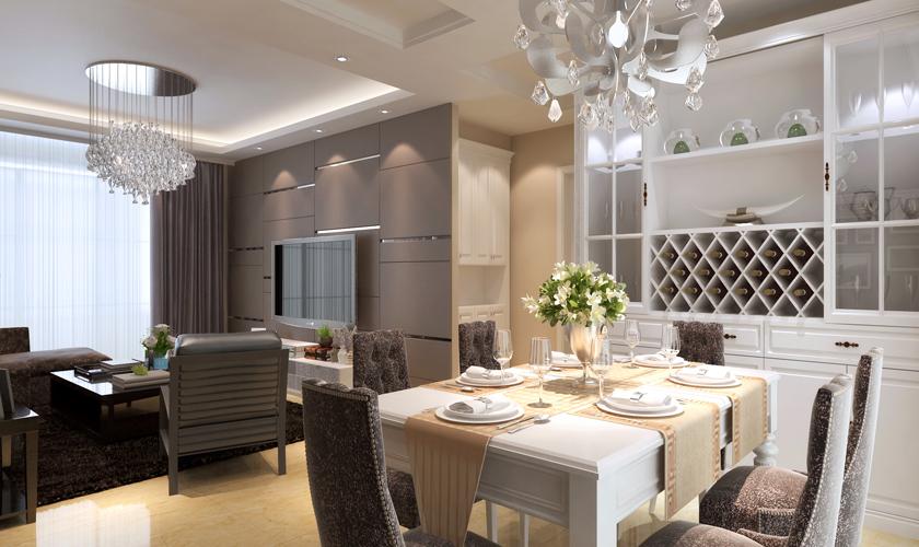 青岛装修 简约 装饰公司 餐厅图片来自青岛威廉装饰在中海御城现代简约装修的分享