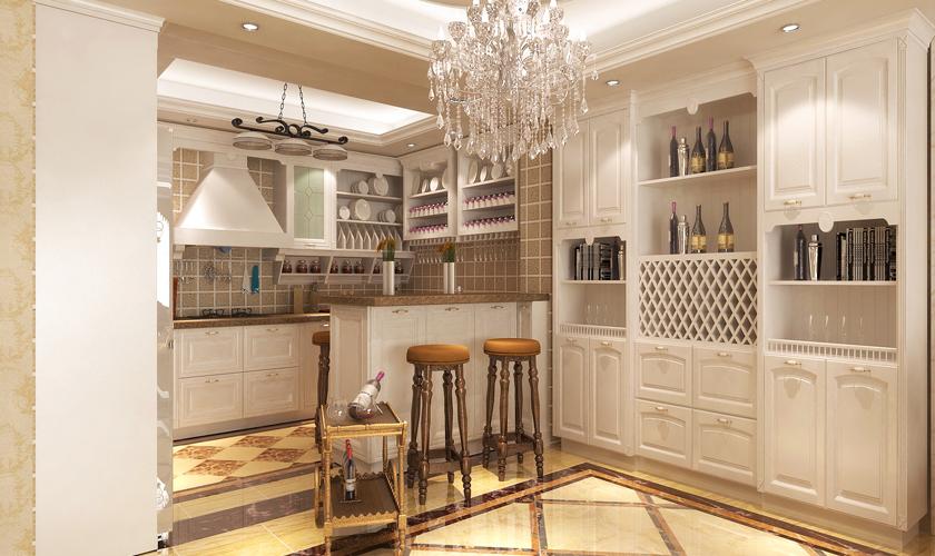 青岛装修 欧式 装饰公司 厨房图片来自青岛威廉装饰在海涛园复式欧式设计的分享